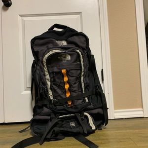 North Force Large Black Padded Frame Backpack